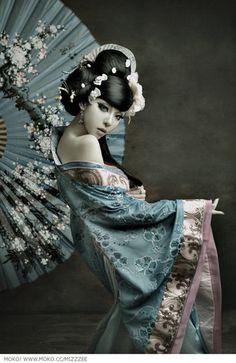 female thonged Asian model
