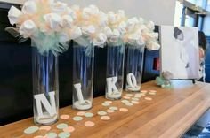 Same idea, but with lemons 👌 Baby Shower Decor. Peach, Mint Green, All White attire. Shower Bebe, Baby Shower Fun, Baby Shower Gender Reveal, Baby Shower Favors, Shower Party, Baby Shower Parties, Baby Shower Themes, Baby Boy Shower, Baby Shower Gifts