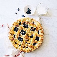 Guys. I did it. I made a lattice #pie that I don't hate. #hummingbirdhigh LAVENDER BLUEBERRIES AND PEACH PIE