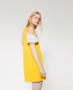 DRESS WITH COMBINED SLEEVES-TRF-NEW IN | ZARA United States