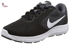 Nike Revolution 3, Chaussures de Running Entrainement Femme, Gris (Dark Grey/White/Black), 36.5 EU - Chaussures nike (*Partner-Link)