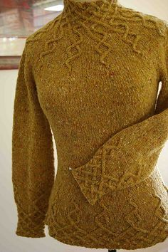 """Wisteria"" colored turtleneck hand knit sweater. Pattern avaiable @ http://www.ravelry.com/projects/larisa/wisteria."