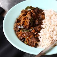 Spicy Beef fried with onions