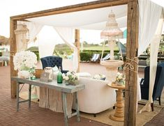 This outside couch seating area is perfect for any event!