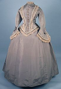 Trained Silk Day Dress, c. 1870 Session 2 - Lot 782 - $920