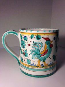 Set Of 2 Vintage Houston Harvest Rooster Ceramic Soup Mugs