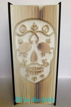 Sugar Skull CUT and FOLD book art Pattern Measurements style not graph
