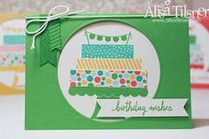 Stampin Up Build a Birthday, CASEing the Catalogue. Created by Alisa Tilsner