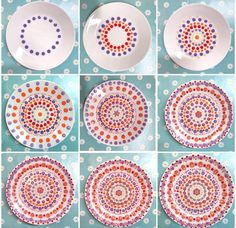 Most up-to-date Pics Pottery Designs painted Strategies Mooi! Pottery Painting Designs, Pottery Designs, Paint Designs, Pottery Art, Dot Art Painting, Mandala Painting, Ceramic Painting, Ceramic Art, Painted Plates