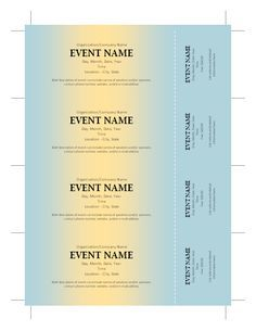 Event Ticket Template Word Fundraising Events Choosing A Catering Service  Fundraising And .