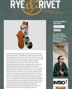 Our Henrik VIbskov socks are featured on Rye & Rivet!  www.ryeandrivet.com/ www.sockhopny.com