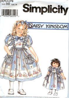 """Simplicidad 8245 18 /""""Doll Daisy Kingdom Ropa patrón"""
