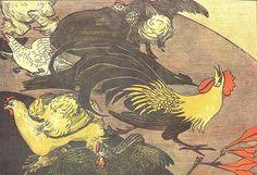 Weathercock attacks farmyard cock by arthurvankruining, via Flickr