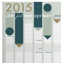 2015 year planner for the wall
