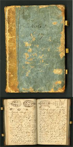 notebook of Constantine Rafinesque, a polymathic genius who annotated his travels across early America. The Smithsonian has digitized 393 field books from scientists between 1800 & Old Books, Antique Books, Vintage Books, Vintage Stuff, Book Libros, Commonplace Book, World Of Books, Detailed Drawings, Book Projects