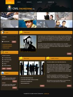 Civil Engineering Joomla Template by Dynamic Template