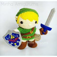 Link / The legend of Zelda  Based on funko pop toy  Mirtha Amigurumis Ecuador #crochet #amigurumi #videogame #zelda #theleyendofzelda #nintendo #ecuador #quito #guayaquil