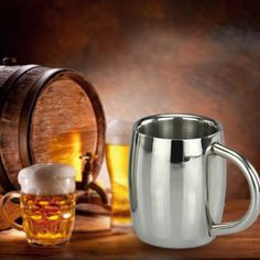 #Stainless steel beer mug #drinking cup coffee pilsner tumbler #barware camping m,  View more on the LINK: http://www.zeppy.io/product/gb/2/251774539869/