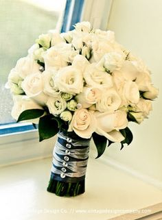 Wedding, Flowers, White, Roses