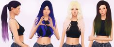 [elliesimple] – Hair recolor ombré | Sims 4 Updates -♦- Sims 4 Finds & Sims 4 Must Haves -♦- Free Sims 4 Downloads