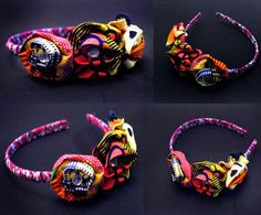 Lovely rosette headband made with Ankara african fabrics(Ghana)