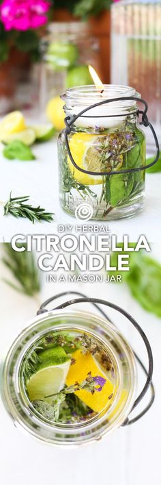 DIY citronella candles are an easy and cute project to make in mason jars. They're absolutely beautiful for outdoor wedding receptions, and functional too because the oil helps repel mosquitos! Also an excellent idea for outdoor dinner party table decorations.