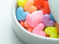 heart candy rainbow