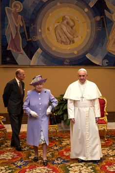 the Duke of Edinburgh Photos: Queen Elizabeth II Visits Rome — Part 3 Papa Francisco, Juan Xxiii, Religion, Juan Pablo Ii, Francis I, Royal Queen, April 3, Princess Margaret, Prince Philip