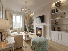 Фото: Интерьер гостиной - Интерьер двухкомнатной квартиры в ЖК «Классика», 75 кв.м.