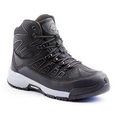 532624f3dde8 Dickies Banshee Men Size 14 Black Gray Rubber Exo-Skeleton Steel Safety Toe  Work Boot