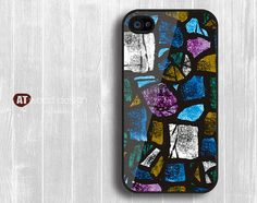 Case for black iphone 4 case iphone 4s case iphone 4 cover Colours design printing. $13.99, via Etsy.
