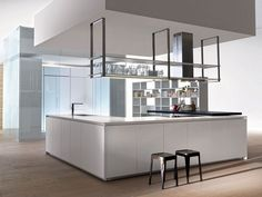 Kitchen with island without handles HI-LINE 6/HI-LINE by DADA | design Ferruccio Laviani