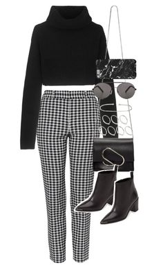 """""""outfit for work with trousers and a sweater"""" by ferned on Polyvore featuring Topshop, Valentino, 3.1 Phillip Lim, ASOS, Seafolly and Acne Studios"""