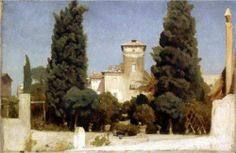 The Villa Malta, Rome  - Frederic Leighton, 1865