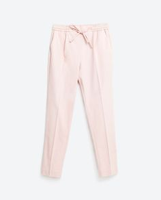 Image 8 of CROPPED DARTED TROUSERS from Zara