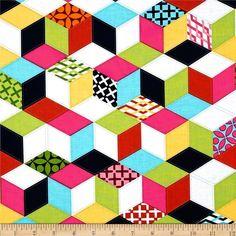 Michael Miller Technicolor Cubix Multi