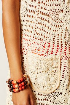 Outstanding Crochet: Crochet square motifs dress/beach cover up from Antropology.
