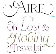 Typography - Aire font sample