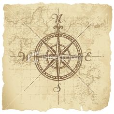 Vintage compass on map art. I would like to add the coordinates of the hospital where my son was born and frame.