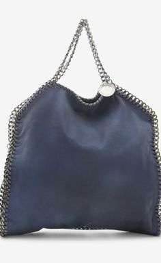Stella McCartney Dark Blue, True Blue And Silver Shoulder Bag