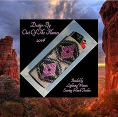 Bead PATTERN Anasazi Lighter Cover Peyote Brick von Outoftheflames