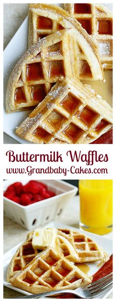 The BEST BUTTERMILK WAFFLES EVER! | Grandbaby Cakes