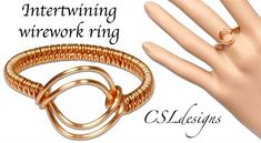 Easy Wire Woven Ring with Open Focal Area