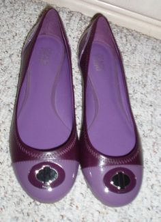 ec777ba98f7342 NewCOACH  Shanon  Patent Shiny High Gloss Ballet Flats Purple Size 8.5 B   fashion  clothing  shoes  accessories  womensshoes  flats (ebay link)