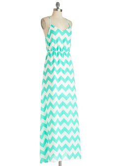 ModCloth $54.99 chevron maxi love the razerback
