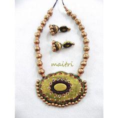 Terracotta Jewellery_The Golden AngelTerracotta  https://www.facebook.com/maitricrafts.maitri https://www.facebook.com/maitri.crafts maitri_crafts@yahoo.com