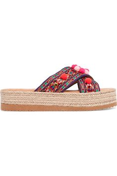 Mabu by Maria BK - Violette Embellished Woven Espadrille Sandals - Pink - IT37