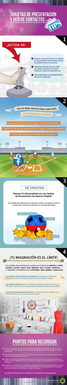 Consejos para que tu tarjeta de visita sea útil #infografia #infographic #marketing