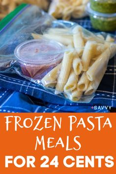These freezer pasta meals come in at just $0.24 per serving. Not only are they insanely inexpensive (can you even buy a pack of gum for $0.25?), they offer convenience and endless possibilities for variety to spice up your work lunches. #pastalunches #freezermeals #freezerlunches Pasta Lunch, Pasta Meals, Easy Pasta Recipes, Easy Dinner Recipes, Vegan Meal Prep, Easy Meal Prep, Freezer Cooking, Freezer Meals, Freezer Smoothies