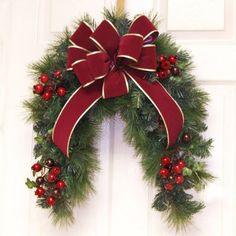Grande Burgundy Door Swag or Mailbox CoverCR4656 : Floral Home Decor